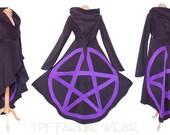 Pentacle hi-lo Tournedot Jacket. Positively pixie hood/Sidhe sleeves