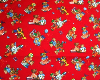 B is for Bear fabric . Cute Baby Newborn Cotton Fabric by Cranston Print Works . A VIP Company . Sewing Material