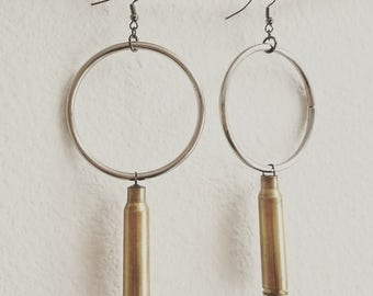 Nihil- bullet shell hoop earrings