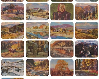 I. Bokshai. Collection / Set of 21 Vintage Postcards -- 1960s-1970s