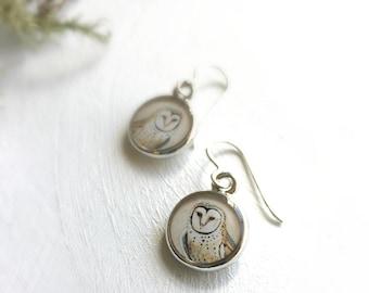 Owl Silver Earrings