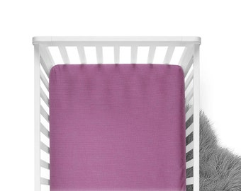 Fitted Crib Sheet - Geranium - Solid Crib Sheet - Flat Crib Sheet - Crib Sheet - Toddler Sheet - Baby Sheet -Solid Purple Fitted Sheet