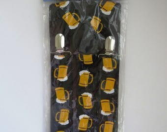 Vintage Suspenders Novelty Beer Mugs German Pants Belt Braces Novelty Suspenders Mens Fashions Fathers Day Gift NEW