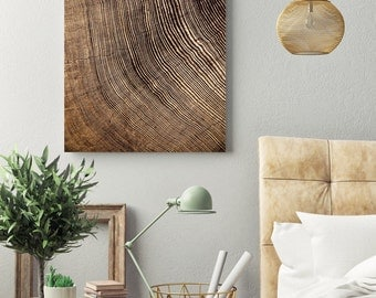 redwood tree rings // contemporary abstract photography // large abstract canvas art // Rings, giclee art photography on canvas