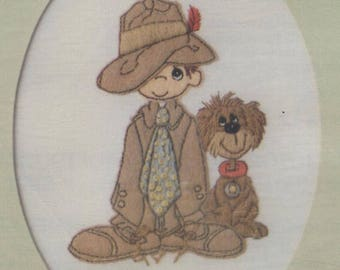 Precious Moments - Any Man Can be a Father but it Takes Someone Special to be a Daddy - Embroidery and Felt Applique Kit WITH Printed Mat