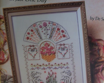 "Book ""Learn to Ribbon Embroidery in Just One Day"" includes Iron-On Transfers"