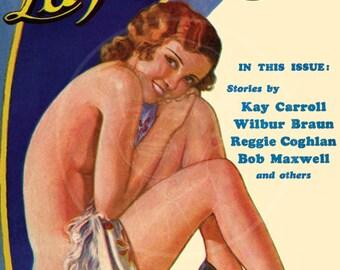 La Paree Stories (Aug 32) - 10x14 Giclée Canvas Print of a Vintage Magazine Cover