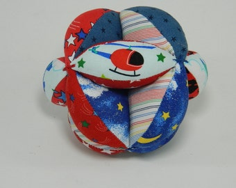 Montessori Learning Toy - Baby Shower Gift - Soft Baby Clutch Ball - Red and Blue Ball - Learn to Grasp Roll Catch and Throw - Preschool Toy