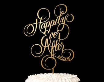 Wedding Cake Topper Happily Ever After - Ballroom Collection