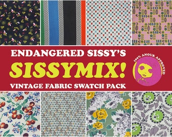 SALE Sissymix Vintage Fabric Swatch Pack - 1950s theme