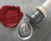 Griffin Wax Seal Necklace - Strength Courage Boldness antique wax seal jewelry Mythical Gryphon by RQP Studio
