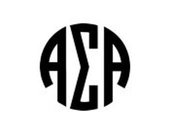 Alpha Sigma Alpha Sorority Circle Monogram PNG / SVG Download - Digital Cutting Files, Use With Silhouette, Cricut + Other Cutting Machines