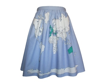 World Map Colour In Skirt