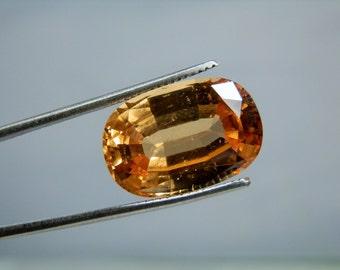 Loose Garnet Gemstone 13.70 carat Oval Grossular Hessonite Sri Lanka 17.68 x 12 mm Rare Fanta Orange Color Lapidary Supply DanPickedMinerals