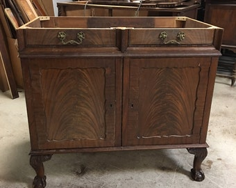 Antique Bathroom VANITY CABINET  - Ready To Paint - Repurposed Furniture - Converted Antique - Solid Wood