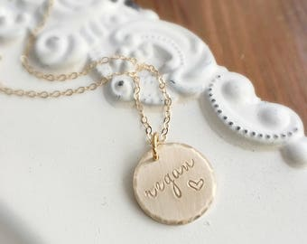 Name Necklace . Personalized Jewelry . Personalized Gold Necklace . Heart Necklace . Gold Jewelry . Gift For Her . Jewelry Gifts . Engraved