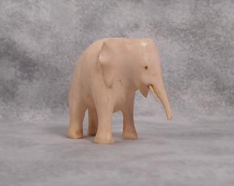 Darling Vintage Stone? Elephant Creme Colored Little Elephant