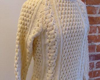 Vintage Malinmor Irish Cable Sweater