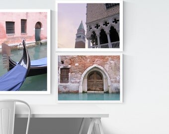 INSTANT COLLECTION - Venetian Italy Fine Art Photographs - Set of Three Venice Prints - You Select Sizes