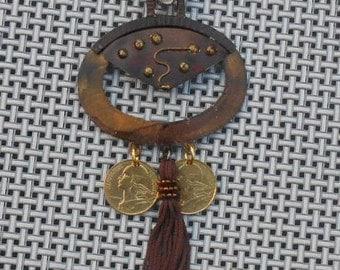 Vintage France Coins Necklace 1973