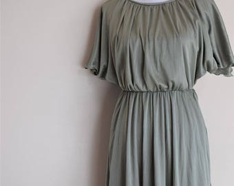 salvation armani vintage green dress - light sage green dress - tinker bell adult dress - womens dress - tinkerbell costume - ILGWU - size 8