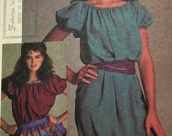 Easy McCalls 8613 Brooke Shields Misses Dress