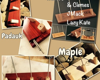 Clemes and Clemes Lazy Kate 3 or 4 ply maple,cherry or padauk : Saorisantacruz
