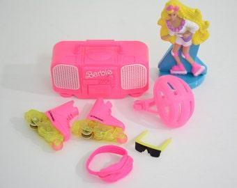 1991 Rappin Rockin Barbie Boom Box & Rollerblades Accessories