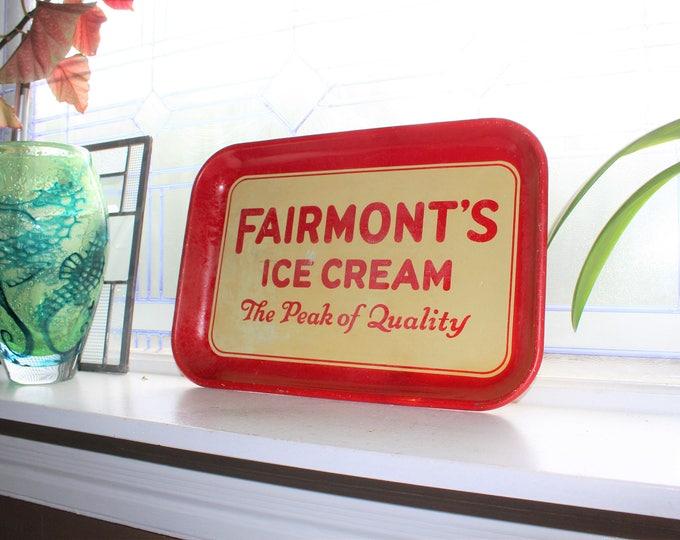 Vintage Fairmont's Ice Cream Tray 1950s Advertising