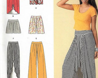 New Simplicity Pattern  #1429 Misses' Sz 6-14 or 16-24 Pull-On Knit Skirt, Pants & Shorts Uncut F Folds