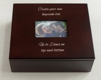 Personalized Create Your Own Keepsake Box w/Photo: Personalized Wedding Gift, Custom Keepsake Box, Personalized Keepsake Box, Ships Fast