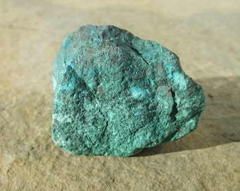 Chrysocolla  Crystal Stone, Malachite, Blue, Green, Unpolished Natural Rough Raw Mineral Rock - 37.5g - 39mm Tranquility - Calming (82-70)