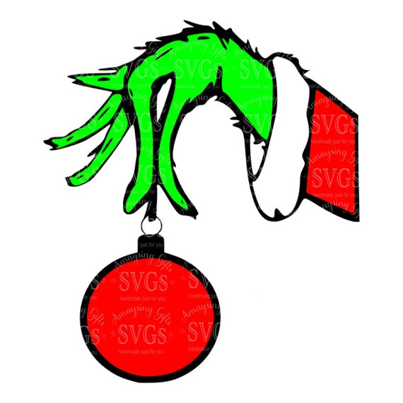 SVG - Grinch Hand - DXF - EPS - Christmas - Grinch Ornament - Grinch ...