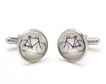 Vintage Bicycle Cufflinks - Bike Cufflinks -  Cyclist Cufflinks - Unique and Cool Gifts for Men - Jewelry for Men - Gift for Husband