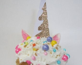 Unicorn Horn Cupcake Topper ~ Cake Topper ~ Unicorn Party