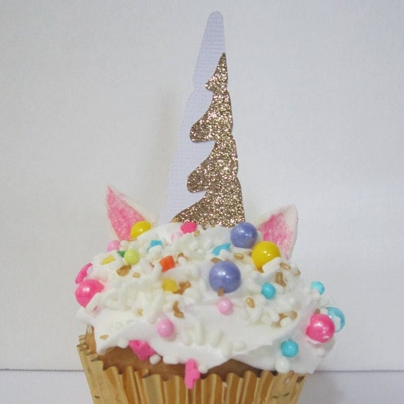 how to make unicorn horns for cupcakes