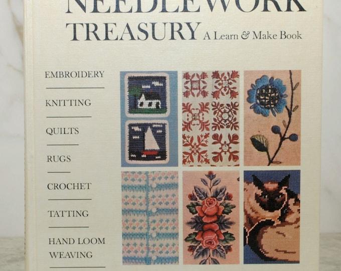 Vintage McCall's Needlework Treasury, A Learn & Make Book, Hardbackbook, Random House, 1963, Embroidery, Knitting, Quilts, Rugs, Crochet