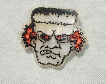 Funny Glow in the Dark Frankenstein Halloween Pin