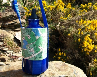 Bottle carrier - FREE SHIPPING - cowboy print