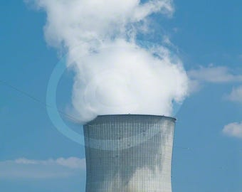 Nuclear Silo Clipart, Smokestack Photo, Environmental Photograph, Climate Change Photo, Digital Download, Nuclear Photo, Silo Photo,