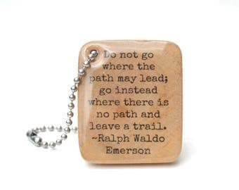 graduation gift Graduation keychain high school Inspirational keychain class of 2017 Emerson key chain Ralph Waldo Emerson Starlight Woods