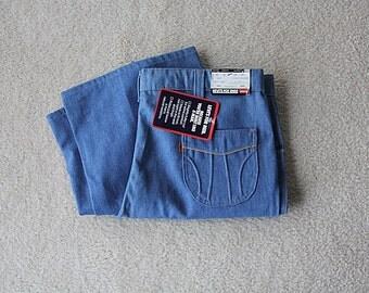 70s Levis Jeans Deadstock Levis for Men Brushed Denim Orange Tab
