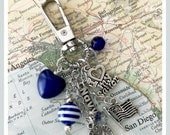 US Navy I love my sailor charm keyring or purse clip by Son and Sea free US shipping
