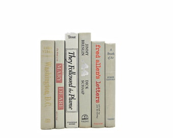 LIght Taupe Gray Antique Decorative Books, Old Grey Book Set, Wedding Centerpiece, BOok Collection, Old Book Decor, GIft for Book Lover