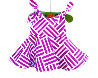 Bekko Tatami Dress - Michael Millers - Comtemporary Style - Spring Outfit - Baby Wearing - Baby Cotton - Custom Made USA