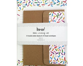 Sprinkle Letter Writing Set - Fun Stationery Set