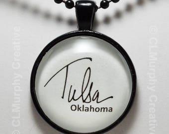 Tulsa Oklahoma Necklace Pendant Tulsa Jewelry C L Murphy Creative
