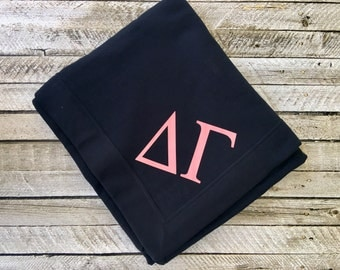 Monogram blanket, Monogrammed blanket, Sorority Blanket, Fraternity Blanket, Gift for men, Monogrammed gifts, Personalized gifts