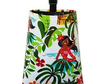 Laminated Cotton Trash Bag - Hula Girl