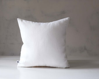 White throw pillows - white linen pillow cover - white throw pillow for home decor - classic pillowcase for decorative pillows - 0419